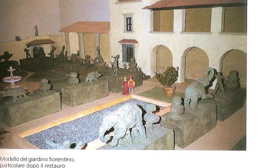 Modello del giardino fiorentino del Quattrocento