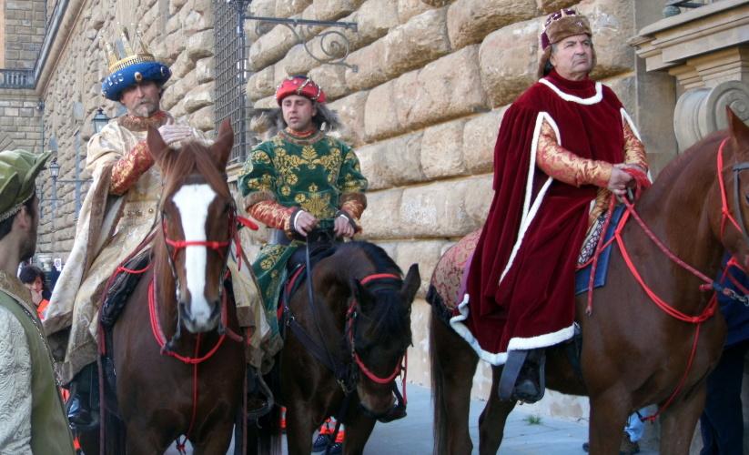 Corteo dei Magi, Firenze, I re Magi