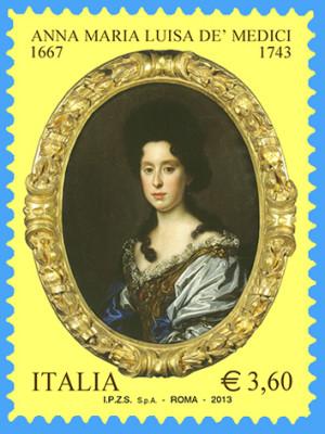 Анна Мария Медичи почтовая марка 2013 года