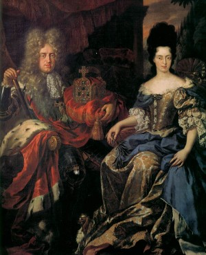 Иоганн Карл Вильгельм I, курфюрст Пфальцский и Анна Мария Луиза Медичи, курфюрстина Пфальцская