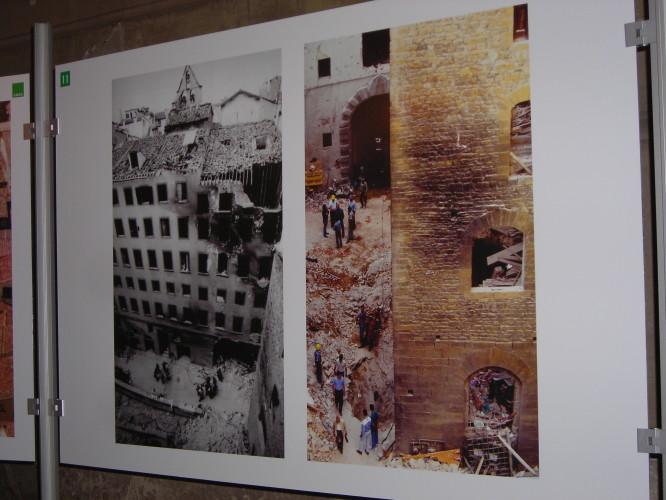 фото выставки - улица после взрыва