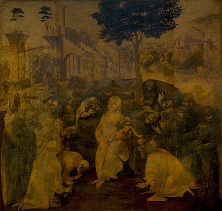 Поклонение Волхвов Леонардо