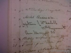 Подпись Бакунина Книга подписчиков Кабинета Вьёсё