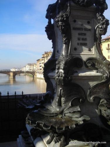 Fontana di Cellini sul Ponte Vecchio di Firenze scultore Raffaello Romanelli 1901- dettaglio