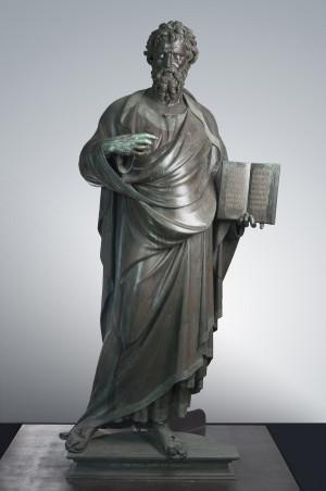 Lorenzo Ghiberti (Florence 1378 or 1381–1455), St. Matthew, 1419–22, bronze, silver and traces of gilding, 272 x 135 x 70 cm. Florence, Chiesa e Museo di Orsanmichele Credit line: Photograph by Lorenzo Mennonna