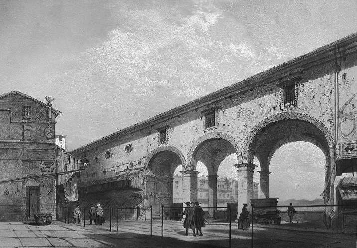 Andrè Durand/Eugène Cicéri - Ponte Vecchio