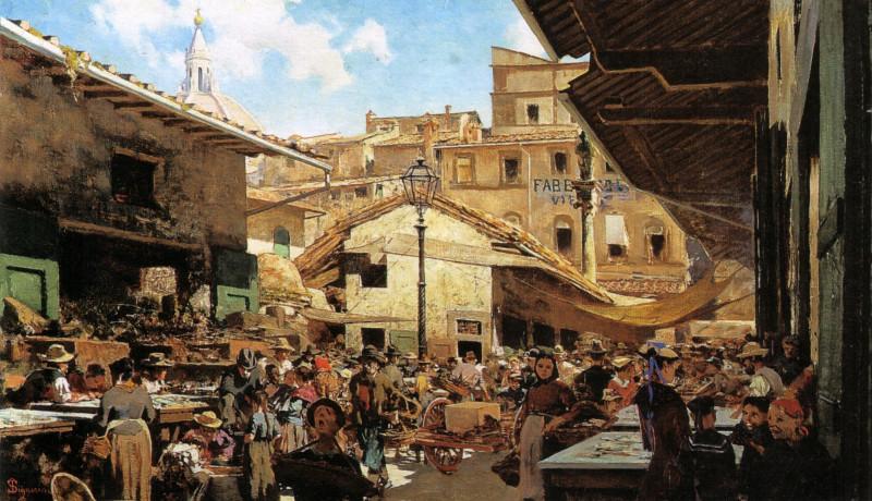 Telemaco_Signorini,_Mercato_Vecchio_a_Firenze_1882-83_
