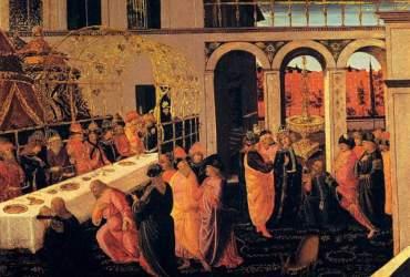 Jacopo_del_sellaio,_banchetto_di_assuero,_uffizi