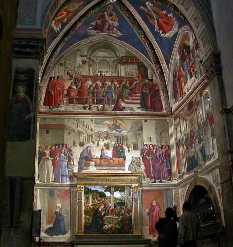 Гирландайо-капелла-Сассетти-церковь Св. Тройцы