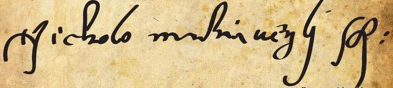 подпись Макиавелли