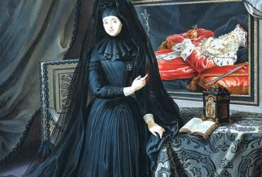 The_Dowager_Electress_Palatine_in_mourning