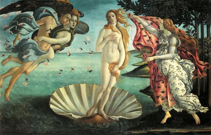 Botticelli, Nascita di Venere, Galleria degli Uffizi, Firenze