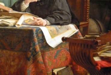 Machiavelli nel suo studio Stefano Ussi 1894