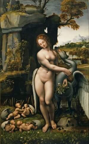 Leda e il cigno-anonimo pittore del XVI s. da Leonardo