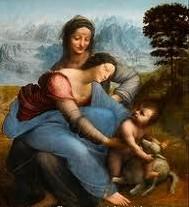 Leonardo Madonna Bambino Sant'Anna Louvre