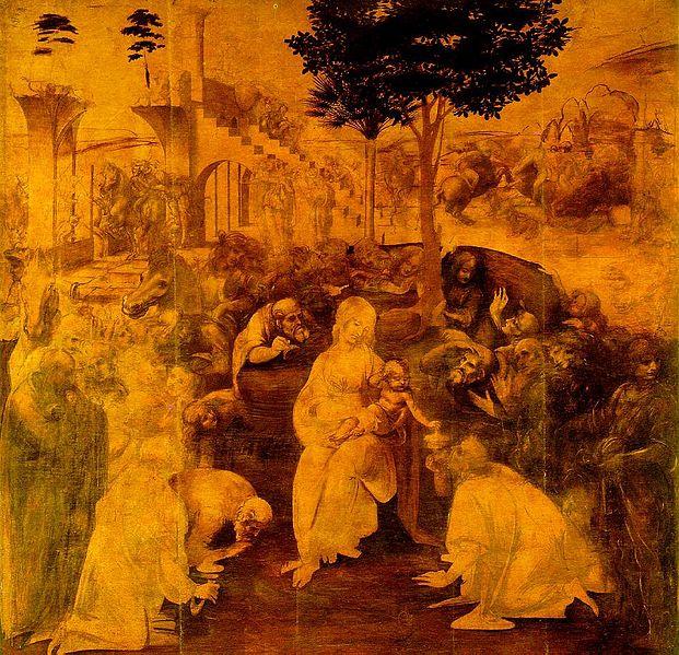 Леонардо Поклонение Волхвов