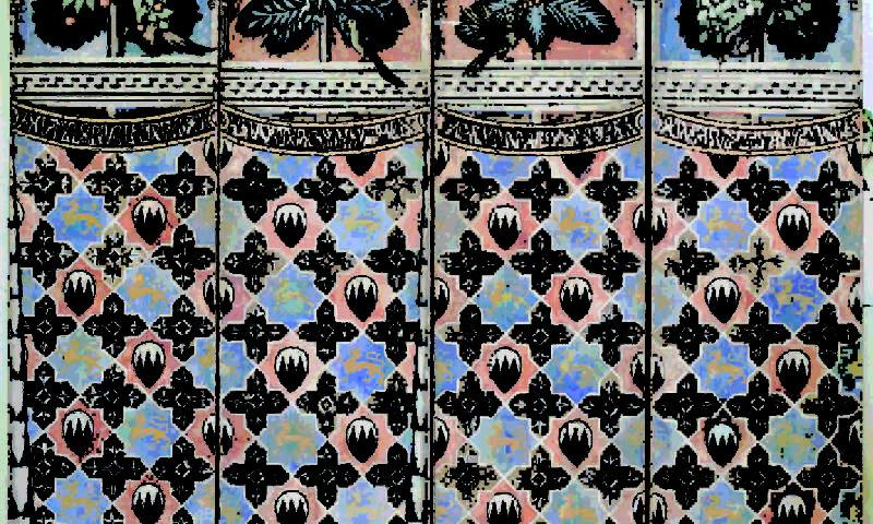 Palazzo Davanzati, particolare affreschi