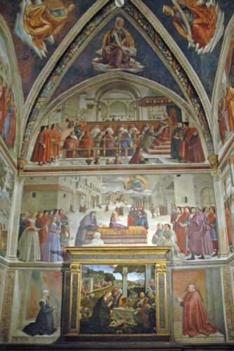 Domenico Ghirlandaio Cappella Sassetti a Santa Trinita