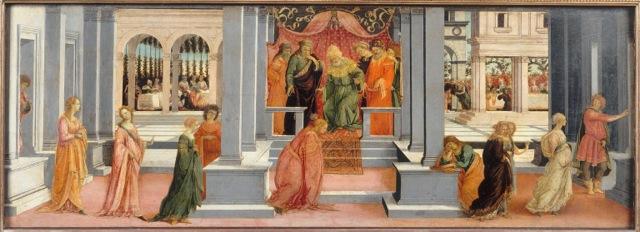 Brautwahl des Assueros - Chantilly - Filippino Lippi ?