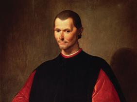 портрет Макиавелли, художник Санти ди Тито во дворце Синьории