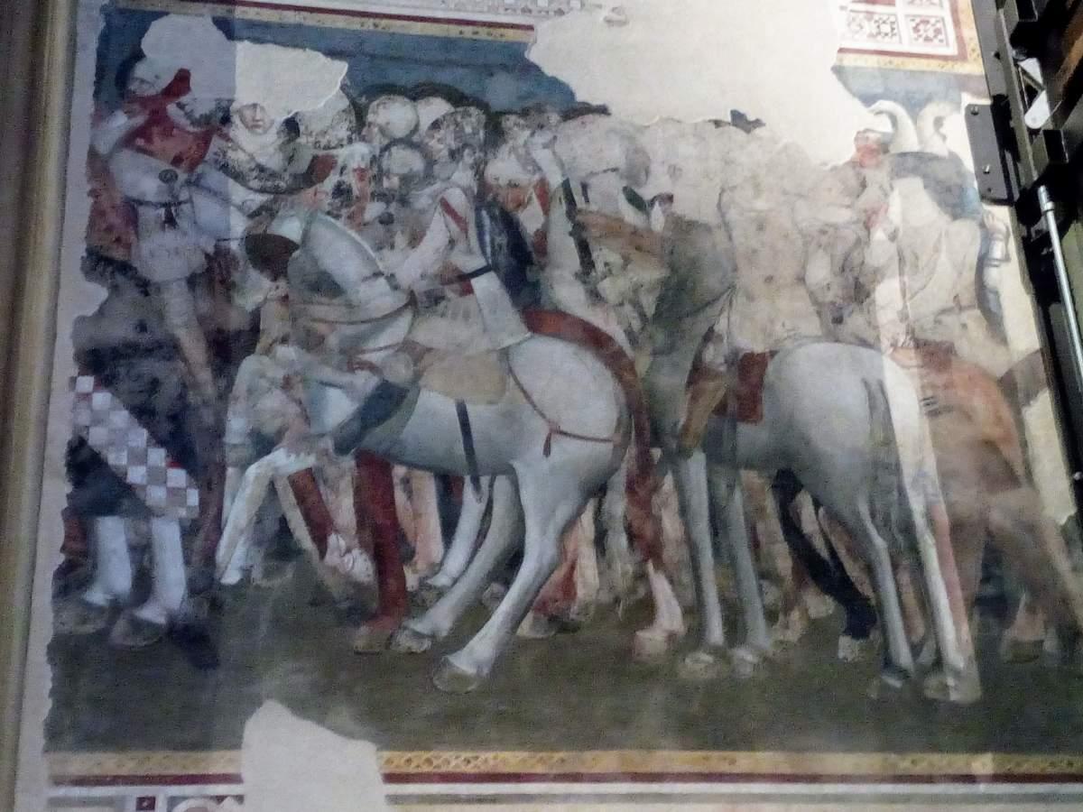 Fresken hinter Altartafeln