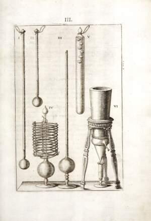 Tafel 3 aus den Saggi di naturali esperienze fatte nell'Accademia del Cimento (Florenz, 1666)