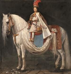 Justus Sustermans zugeschrieben: ein vierjaehriger Prinz und ein grosses Pferd