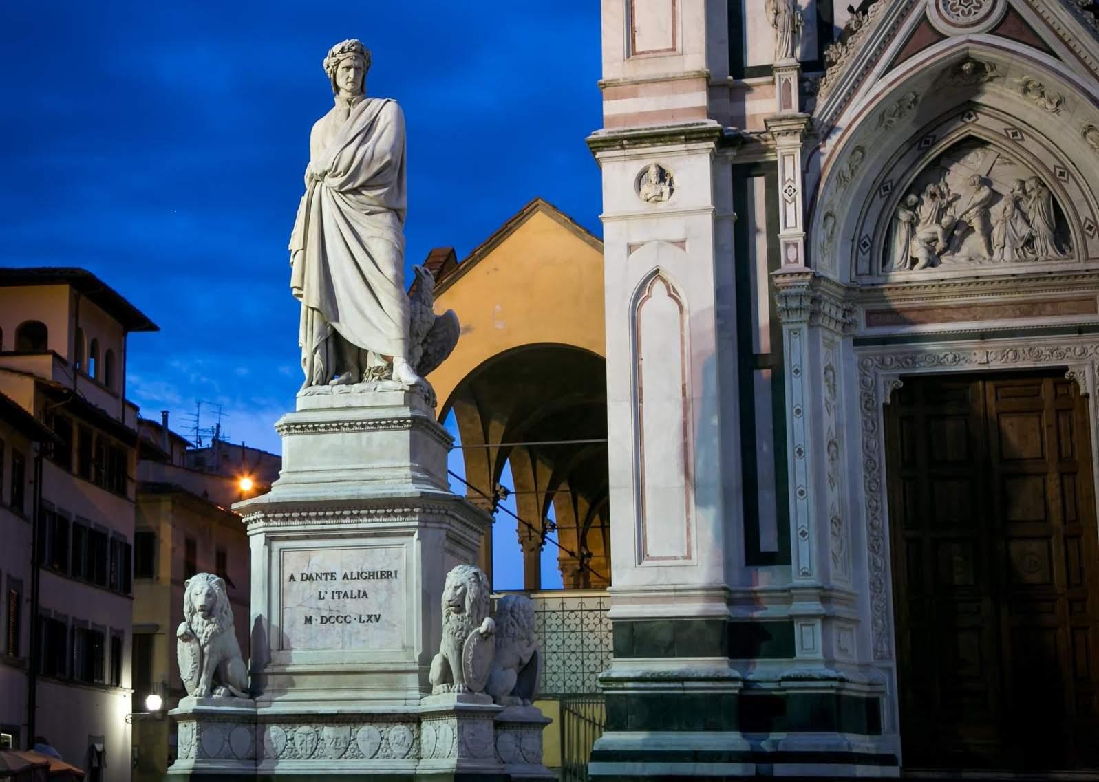 Dante Piazza Santa Croce Enrico Pazzi 1865