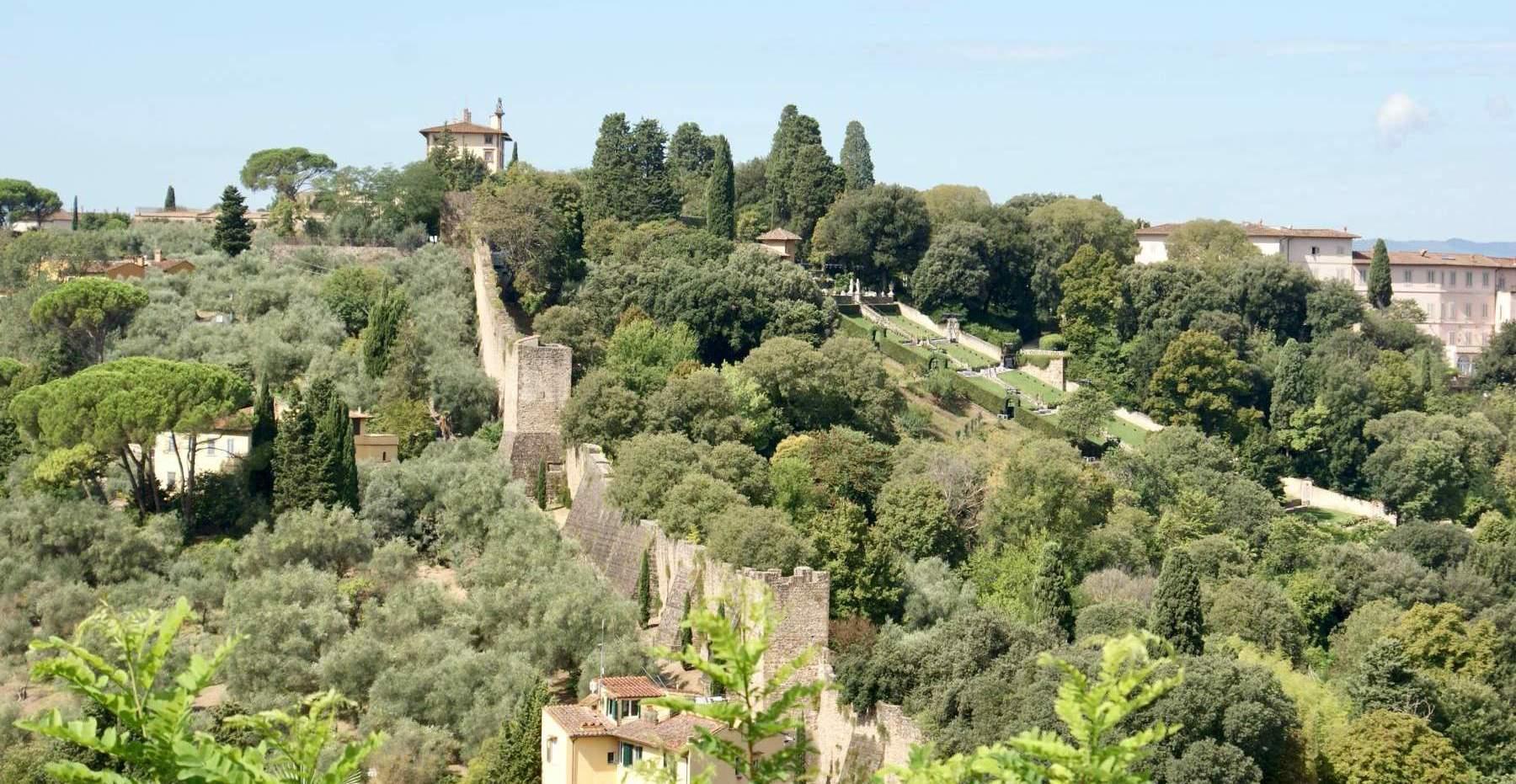 Mura di Firenze viste da Piazzale Michelangelo