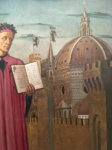 Domenico di Michelino Dante e la Divina Commedia dettaglio