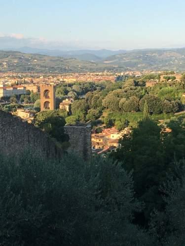 Mura di Firenze dal Bastione della Ginevra