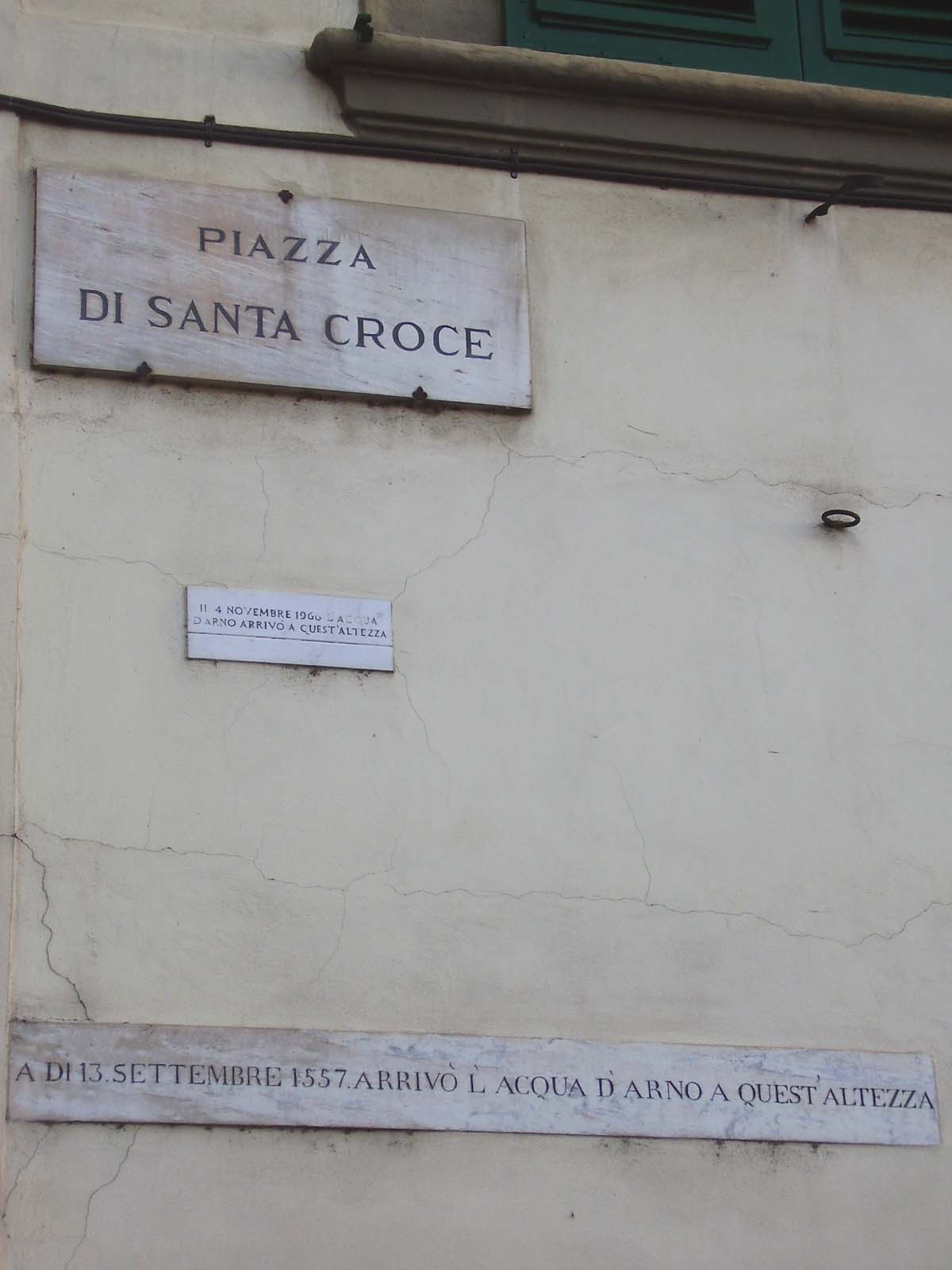 Plate of the flood in Santa Croce