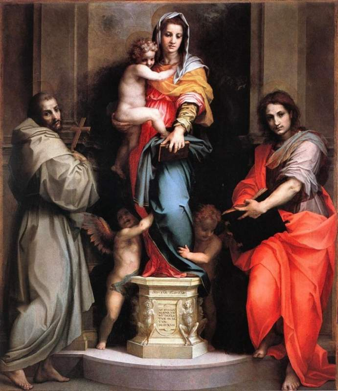 Andrea_del_Sarto_Madonna_of_the_Harpies, Uffizi