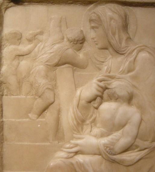 Michelangelos Relief der 'Madonna della Scala'