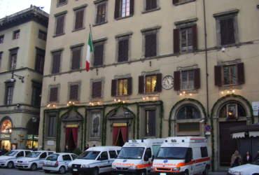 La sede della Misericordia decorata per la festa di San Sebastiano, Firenze