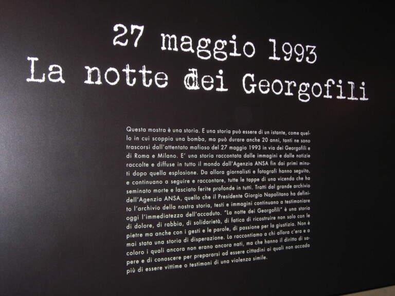 L'attentato dei Georgofili – 27 maggio 1993 – 2013